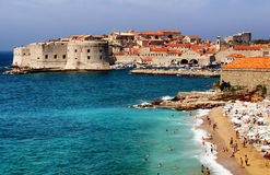 Playa Dubrovnik Croacia de Banje Foto de archivo