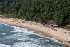 Playa e intervención humana Foto de archivo libre de regalías