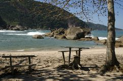 Playa. El Brasil Foto de archivo