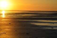 Playa El Espino and sunset, El Salvador Stock Images