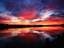 Playa el Golfo de México de ciudad de Panamá cerca de la puesta del sol pintoresca foto de archivo libre de regalías