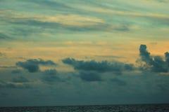 Playa el Golfo de México de ciudad de Panamá cerca de la puesta del sol pintoresca fotos de archivo libres de regalías