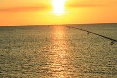Playa el Golfo de México de ciudad de Panamá cerca de la puesta del sol pintoresca imágenes de archivo libres de regalías