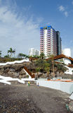 Playa El Pinque and Hard Rock hotel complex royalty free stock photo