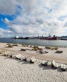 Playa en Aarhus en Dinamarca Foto de archivo libre de regalías