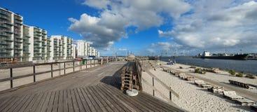 Playa en Aarhus en Dinamarca Foto de archivo