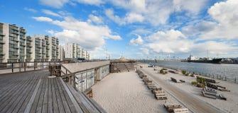 Playa en Aarhus en Dinamarca Imágenes de archivo libres de regalías