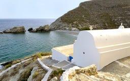 Playa en Agios Nikolaos Foto de archivo libre de regalías
