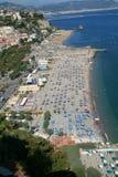 Playa en Amalfi, Italia Imágenes de archivo libres de regalías