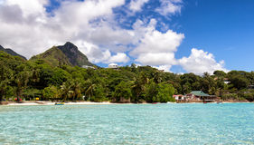 Playa en Anse L'Islette Imagen de archivo libre de regalías