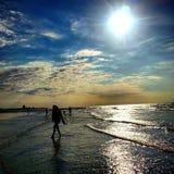 Playa en Bélgica, Newport Imágenes de archivo libres de regalías