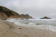 Playa en Big Sur Foto de archivo