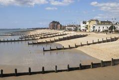 Playa en Bognor Regis. Sussex. Reino Unido Imagen de archivo