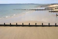 Playa en Bognor Regis. Sussex. Reino Unido Imágenes de archivo libres de regalías