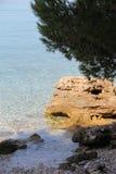 Playa en Brac, año 2013 Fotos de archivo libres de regalías