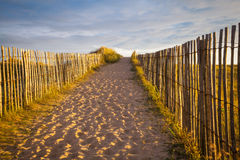 Playa en Bretaña Fotografía de archivo libre de regalías