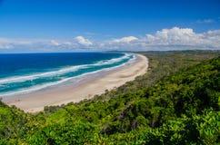 Playa en Byron Bay Foto de archivo libre de regalías