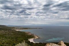 Playa en Córcega fotografía de archivo