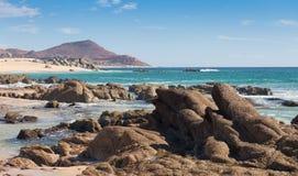 Playa en Cabo San Lucas, México Imágenes de archivo libres de regalías
