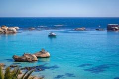 Playa en Cape Town, Suráfrica Imagen de archivo libre de regalías