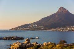 Playa en Cape Town, Suráfrica Foto de archivo libre de regalías