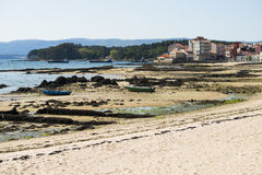 Playa en Carril y x28; Spain& x29; Foto de archivo