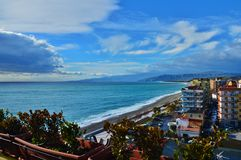 Playa en Catanzaro Lido Fotos de archivo libres de regalías