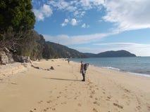 Playa en Catlins, Nueva Zelanda imagenes de archivo