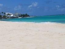 Playa en Christchurch, Barbados, foto de archivo libre de regalías