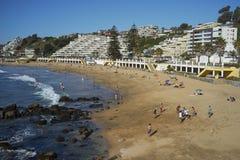 Playa en Concon en la Costa del Pacífico de Chile Imágenes de archivo libres de regalías