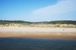 Playa en Costa Vincentina, Portugal de Amoreira Fotos de archivo libres de regalías