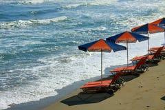 Playa en Crete Fotos de archivo libres de regalías