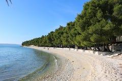 Playa en Croatia Fotos de archivo