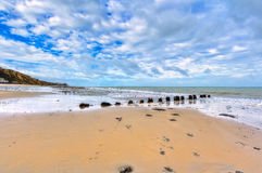 Playa en Cromer Imagen de archivo libre de regalías