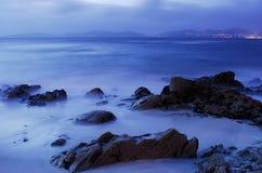 Playa de Barcas en Vigo imagen de archivo