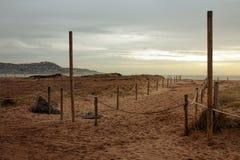 Playa en el amanecer Foto de archivo libre de regalías