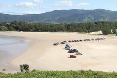 Playa en el Brasil meridional Fotos de archivo libres de regalías