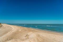 Playa en el golfo mexicano Imágenes de archivo libres de regalías