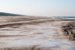 Playa en el invierno Imagen de archivo libre de regalías