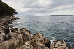 Playa en el mar adriático Fotos de archivo