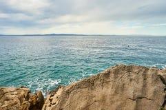 Playa en el mar adriático Foto de archivo
