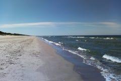 Playa en el mar Báltico foto de archivo libre de regalías