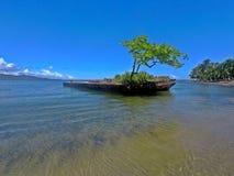Playa en el mar del Caribe, Costa Rica de Puerto Viejo imagen de archivo libre de regalías