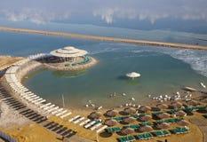 Playa en el mar muerto Foto de archivo libre de regalías