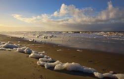 Playa en el monstruo en Holanda Imagenes de archivo