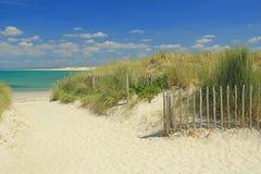 Playa en el Océano Atlántico Fotos de archivo libres de regalías