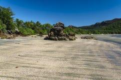 Playa en el parque nacional de Hillsborough del cabo Imagen de archivo libre de regalías