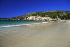Playa en el parque nacional del Acadia Imagen de archivo libre de regalías