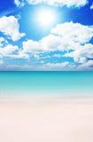 Playa en el verano Fotos de archivo