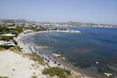 Playa en faliraki Imagenes de archivo